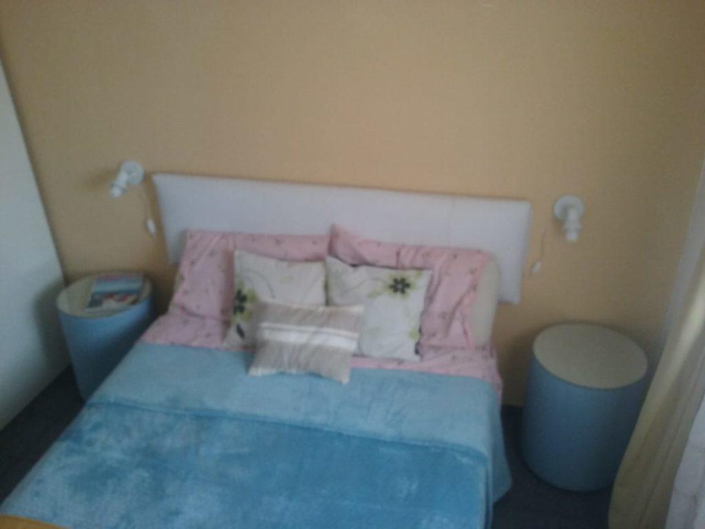 Imagen del dormitorio de Cabañas Gisela.